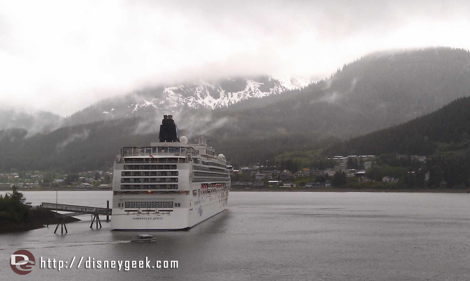 Today we are in Juneau #Alaska there are three other ships in.