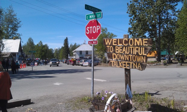 We disembarked the train in Talkeetna #Alaska