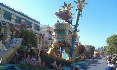 The Princess and the Frog unit making its way to Town Square