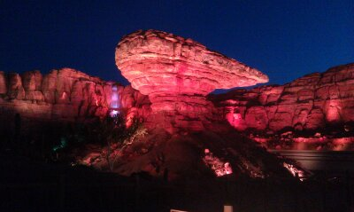 Willies Butte this evening in #CarsLand