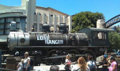 A train from the Lone Ranger is in HollywoodLand for the premiere