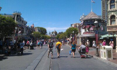 A look down Main Street USA this great summer afternoon