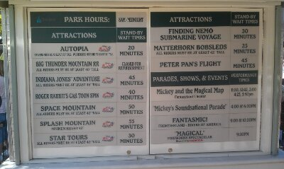 A check of the current #Disneyland wait times