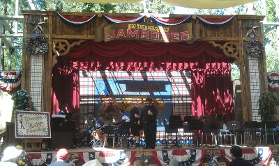 The All American College Band's next set is at 3:30 at the Big Thunder Ranch Jamboree