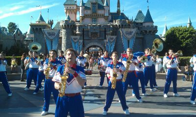 The 2013 All-American College Band at their 5:05 set in front of the castle