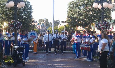 The Disneyland honor guard preparing to exit at the end of the flag retreat