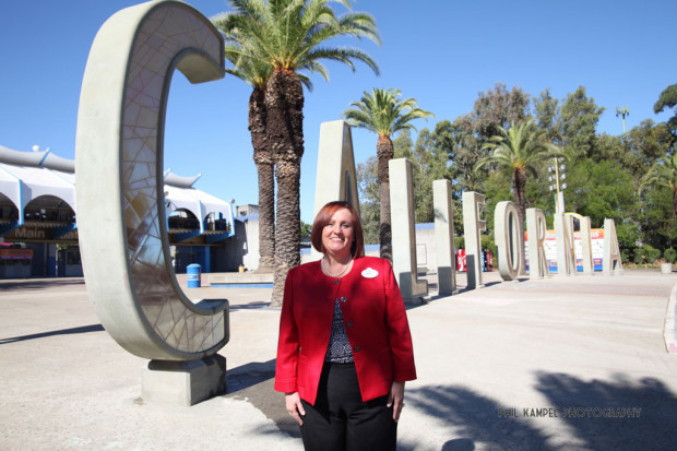 Mary Niven  with the former Disney California Adventure  C-A-L-I-F-O-R-N-I-A @ California State Fair