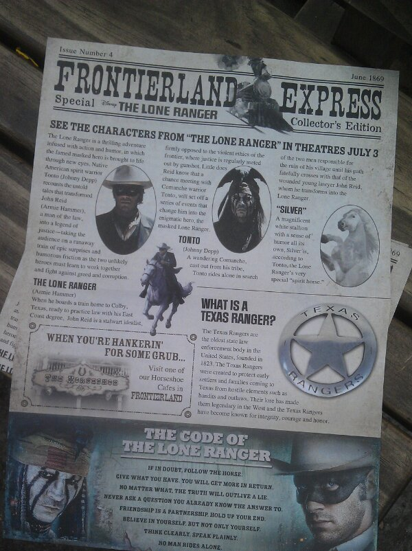The Frontierland Express is available at the Golden Horseshoe