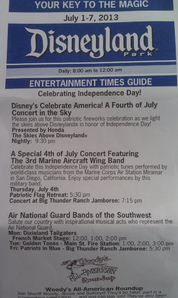 Additional entertainment for Independence Week, but no bands today!