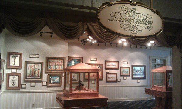 The Disney Gallery is now in the Opera House lobby area where the models used to be.