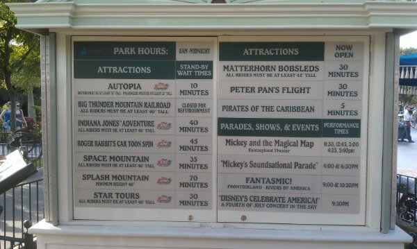 #Disneyland wait times at 5:40pm