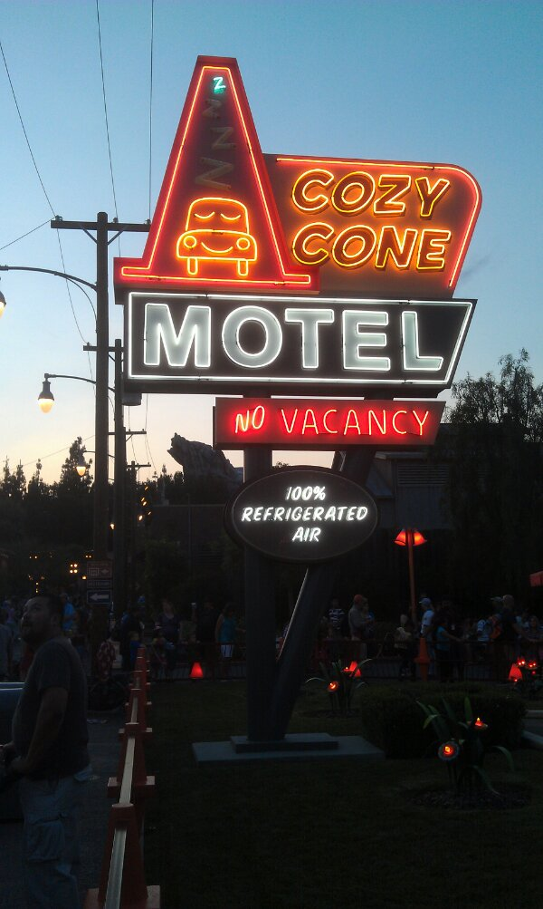 The neon just came on in #CarsLand always a great time of the day to visit