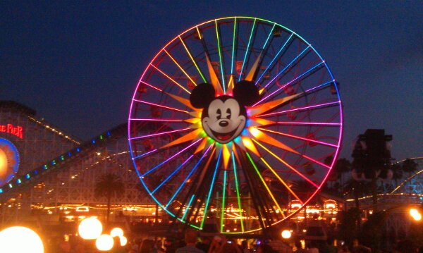 Waiting for World of Color and its 4th of July preshow.