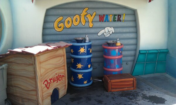 It is a warm afternoon, be sure to drink plenty of water… We always enjoy the Goofy Water in Toontown.
