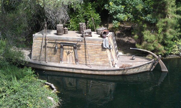 Another memory of an attraction… A Keel boat along the Rivers of America