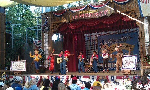 The Toy Story gang joins the Billies at Woody's All-American Roundup