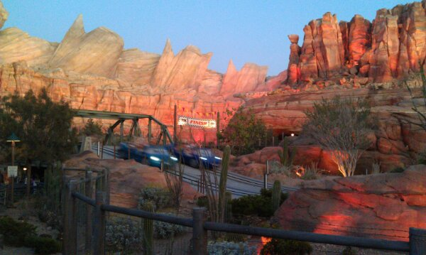 Ornament Valley this evening #CarsLand