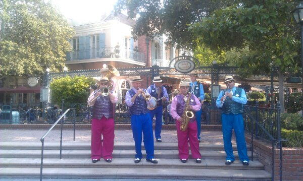 The Jambalaya Jazz performing in New Orleans Square
