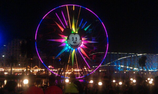 Mickeys Fun Wheel as I wait for World of Color