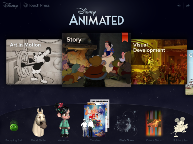 Disney Animated - iPad App
