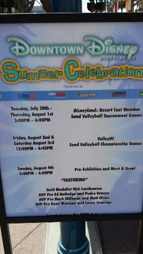 #DisneylandDTD has a Summer Celebration going on this week.  Here is a schedule