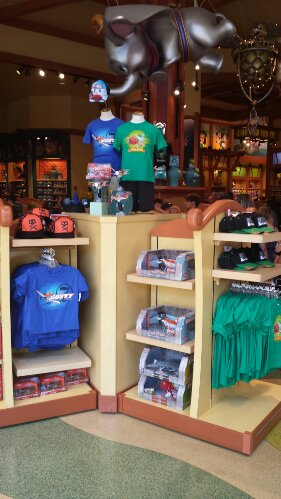 Planes merchandise is front and center in World of Disney