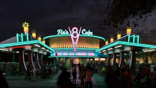 Flos V8 Cafe #CarsLand neon