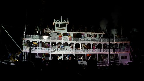 The Mark Twain passing by during Fantasmic