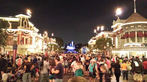 Made it to Main Street just as the music started for Magical