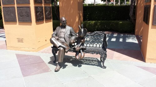 Roy and Minnie in Legends Plaza