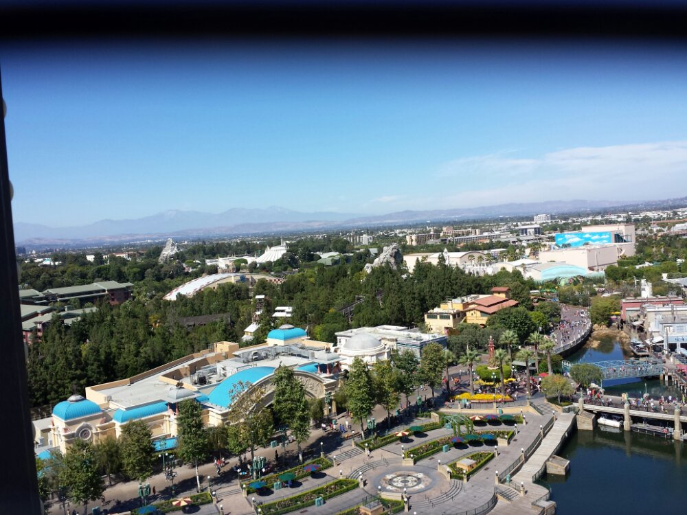 Looking toward Disneyland from the Fun Wheel