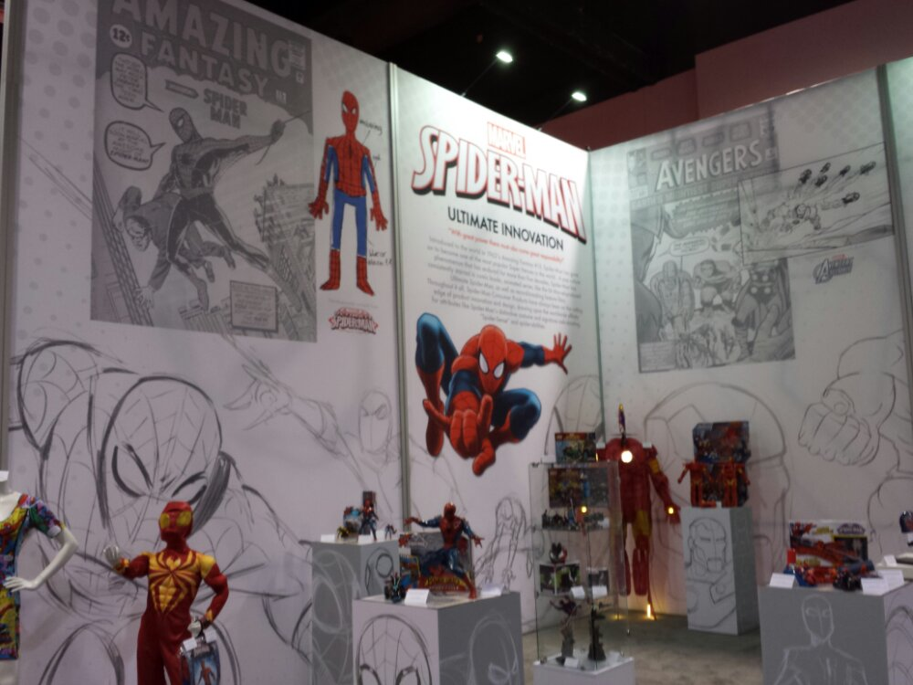 The Marvel section of Consumer Products #D23Expo