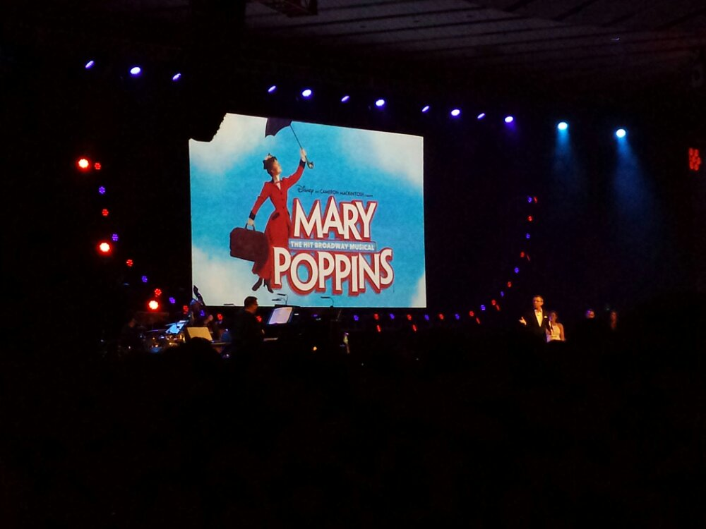 Played a radio interview of Dick Van Dyke and Julie Andrews talking about Mary Poppins on Broadway in 1965 #D23Expo