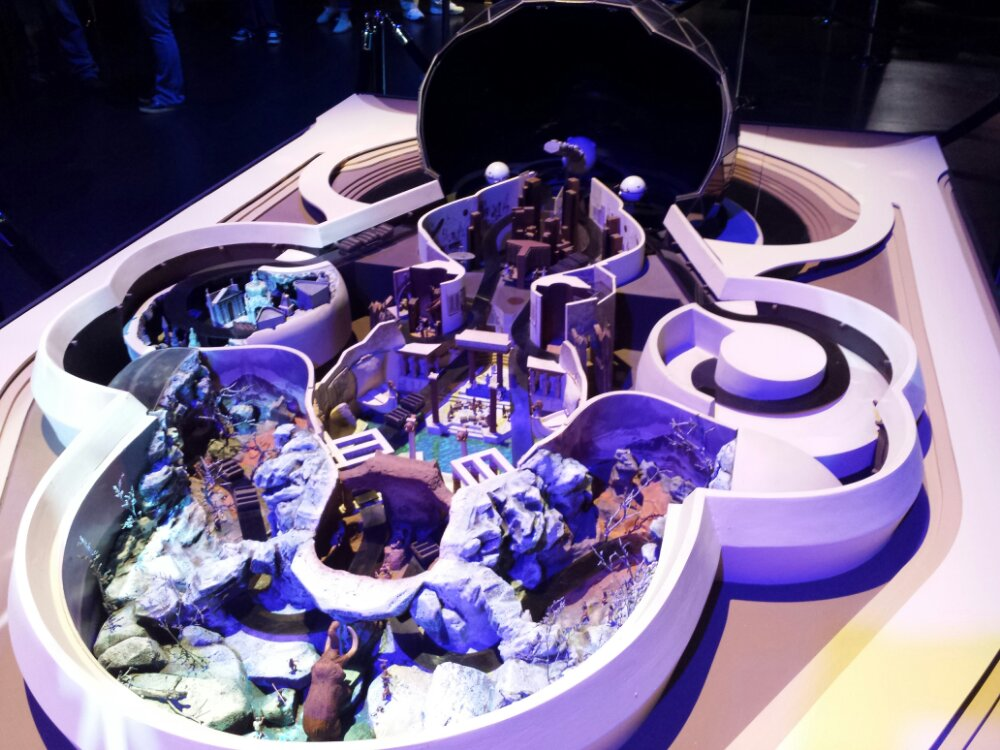 An early concept model for Spaceship Earth #D23Expo Journey into Imagineering