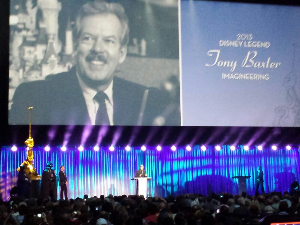 Tony Baxter was honored first at the Disney Legends #D23Expo