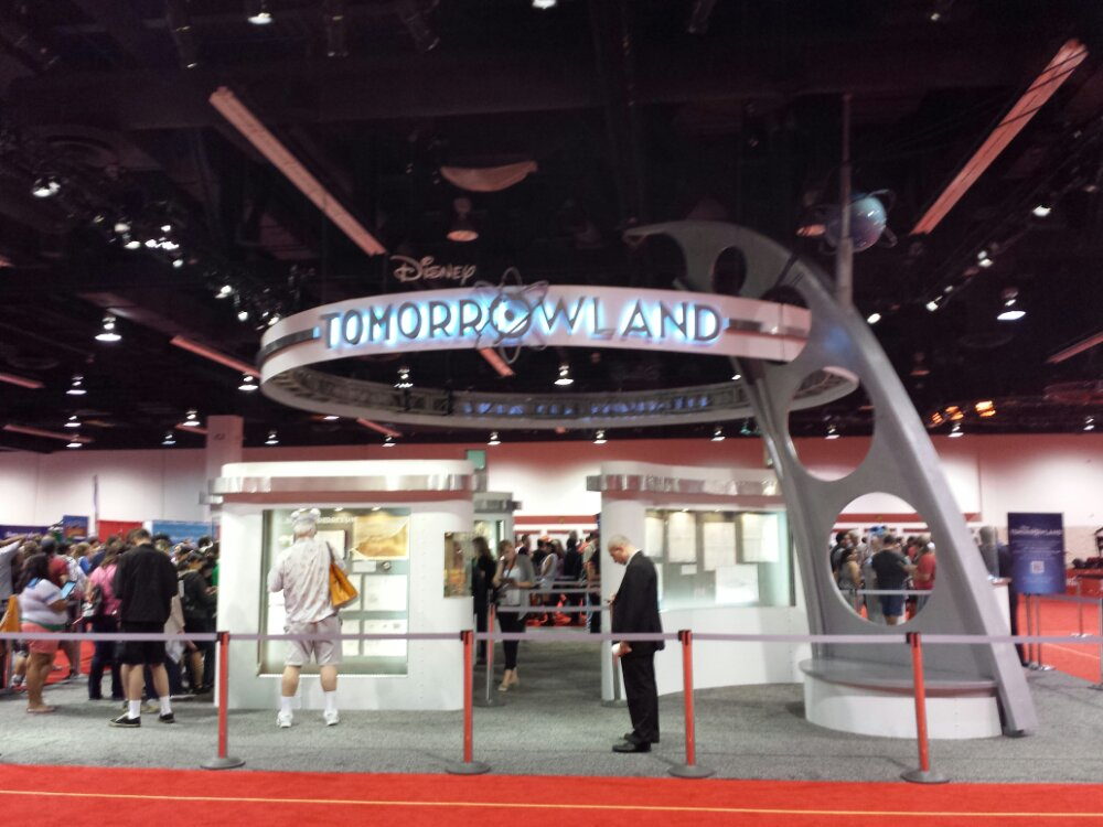 An exhibit for the Tomorrowland movie was unveiled earlier today #D23Expo