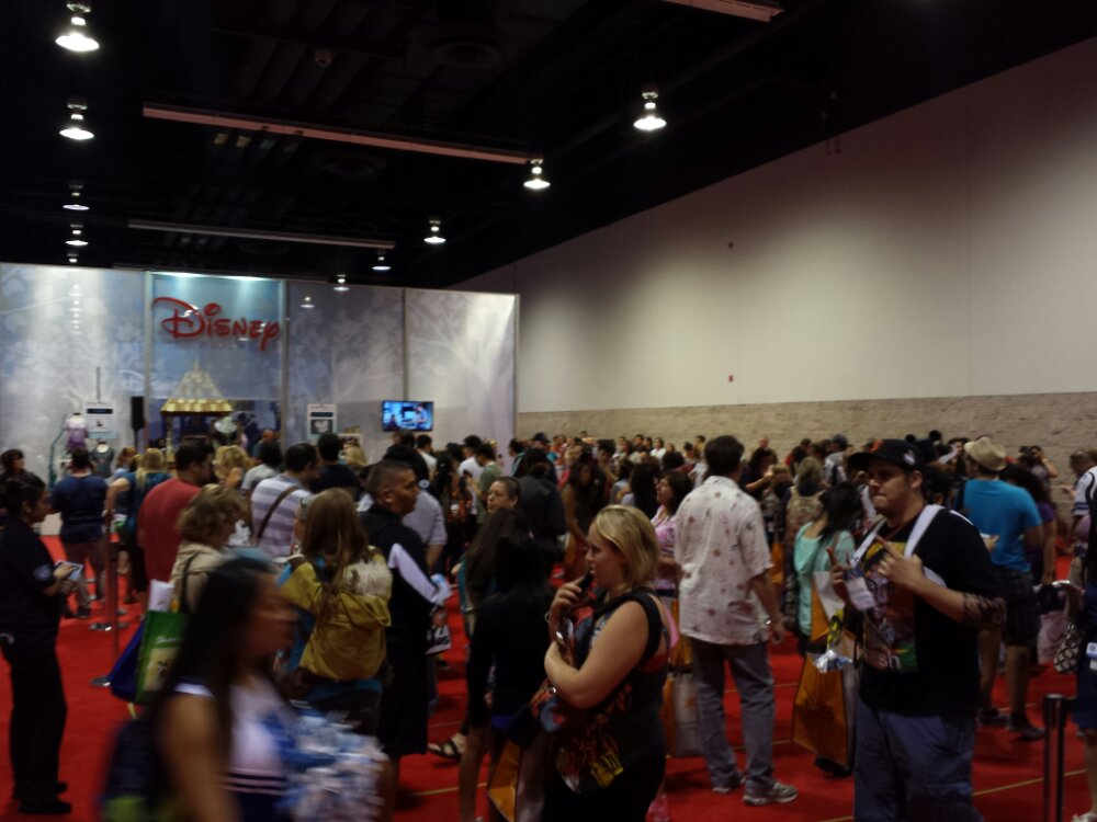 "#D23Expo the Disney Store line is a ""super short 30 to 45 minutes"" according to the CM with the mic"