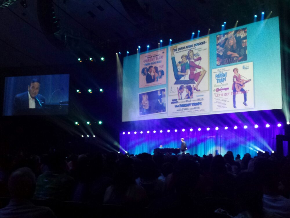 Richard Sherman performing Lets Get Together #D23Expo