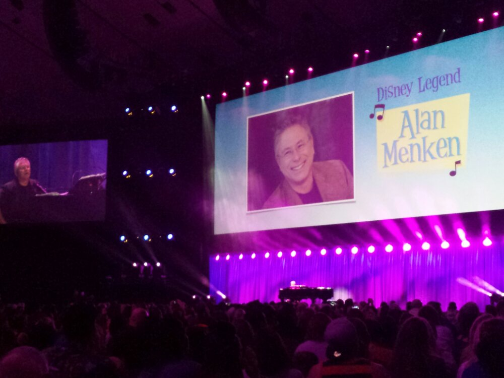 Alan Menken taking the stage #D23Expo