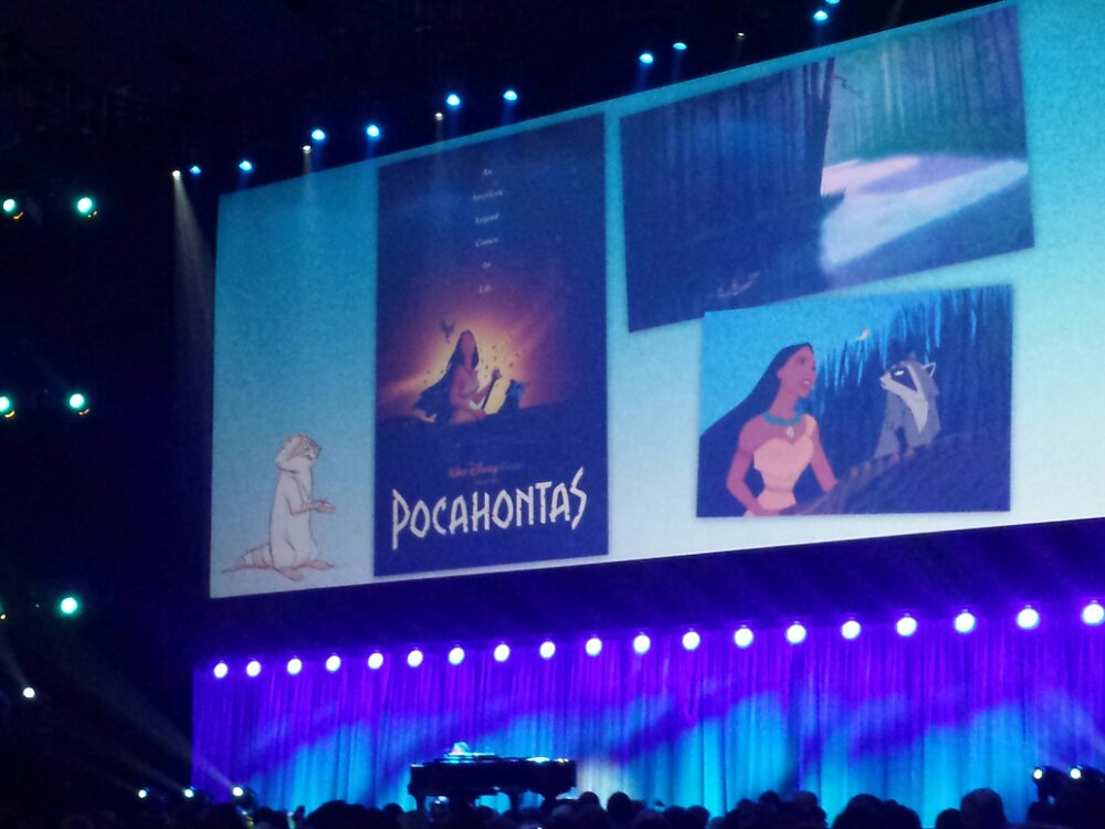 Pocahontas medley up next including a cut song  #D23Expo
