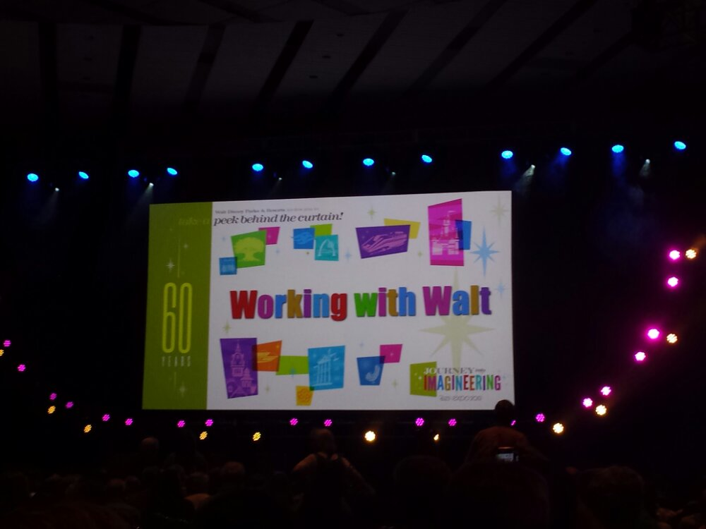 Plenty of seats for the Working with Walt panel still #D23Expo