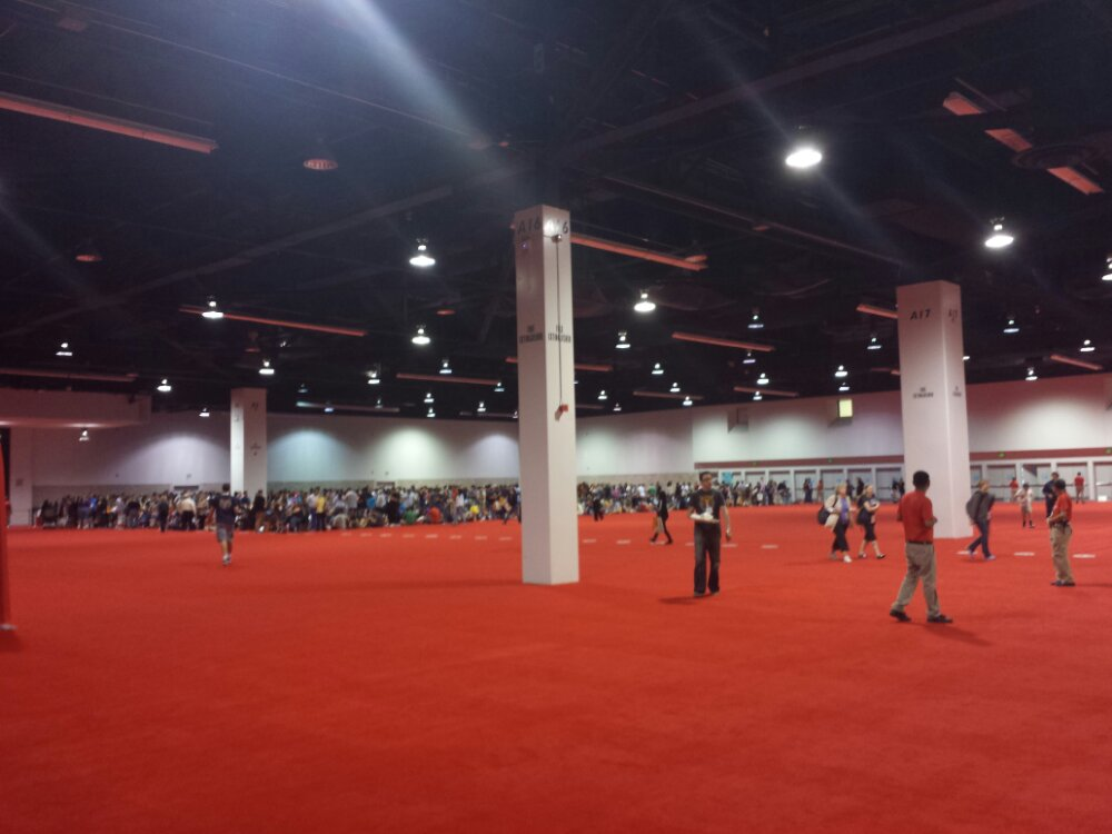 Plenty of space in the arena queue for Disney Interactive #D23Expo