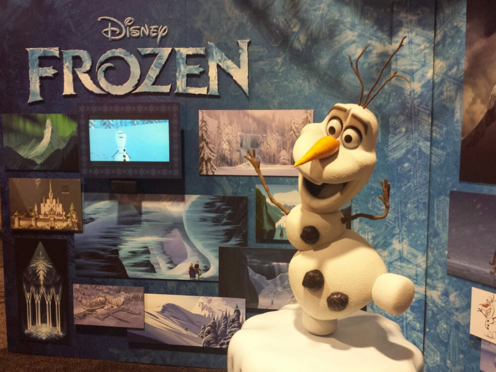 Disney Frozen exhibit #D23Expo