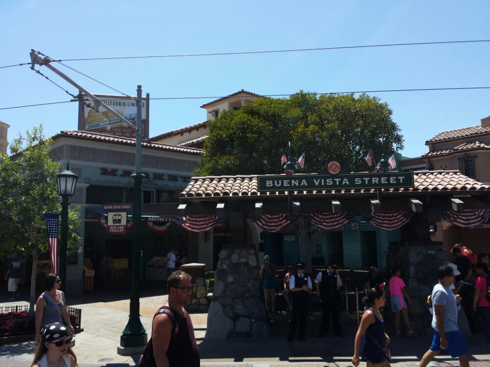 #BuenaVistaStreet this afternoon as I head into the park @DCAToday