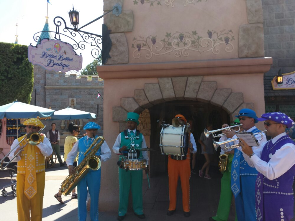 The Pearly Band performing in Fantasyland