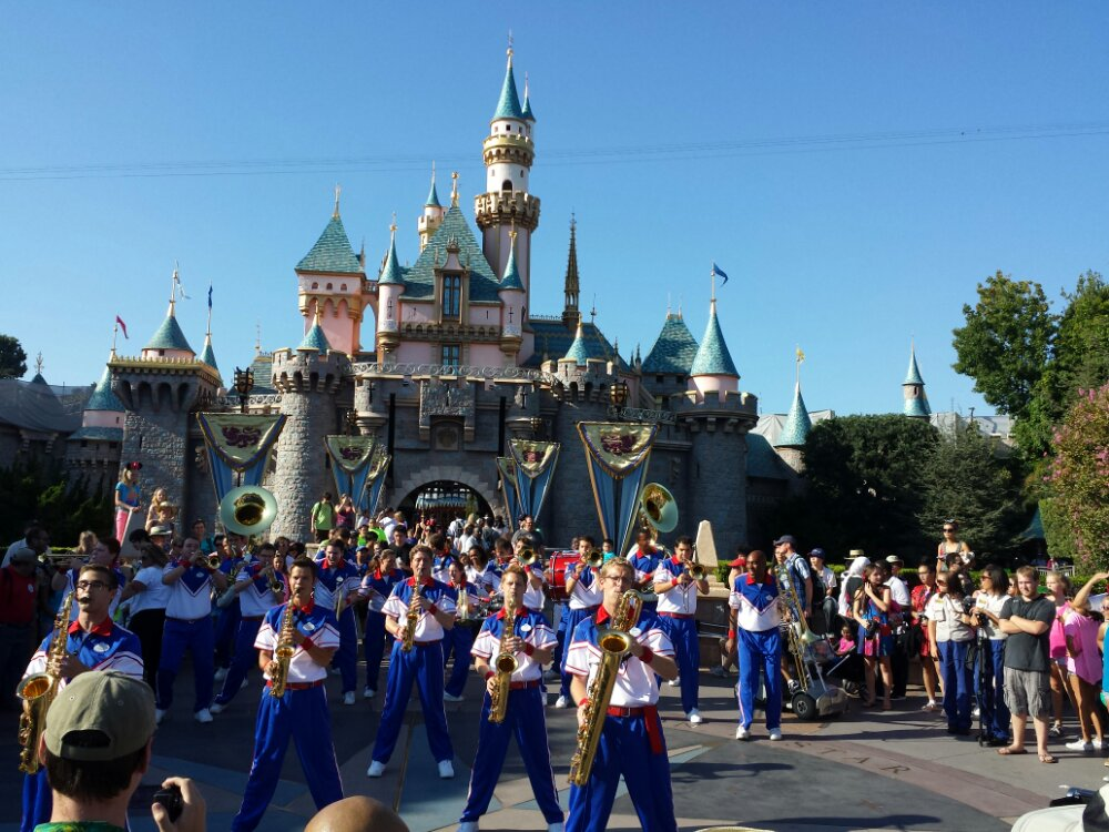 The All-American College Band performing its last Castle set of the summer
