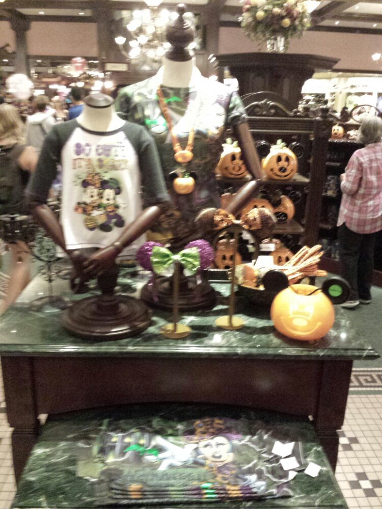 Halloween merchandise in the Emporium