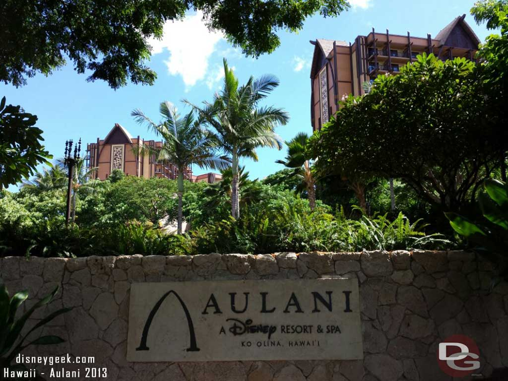 Arriving at #Aulani