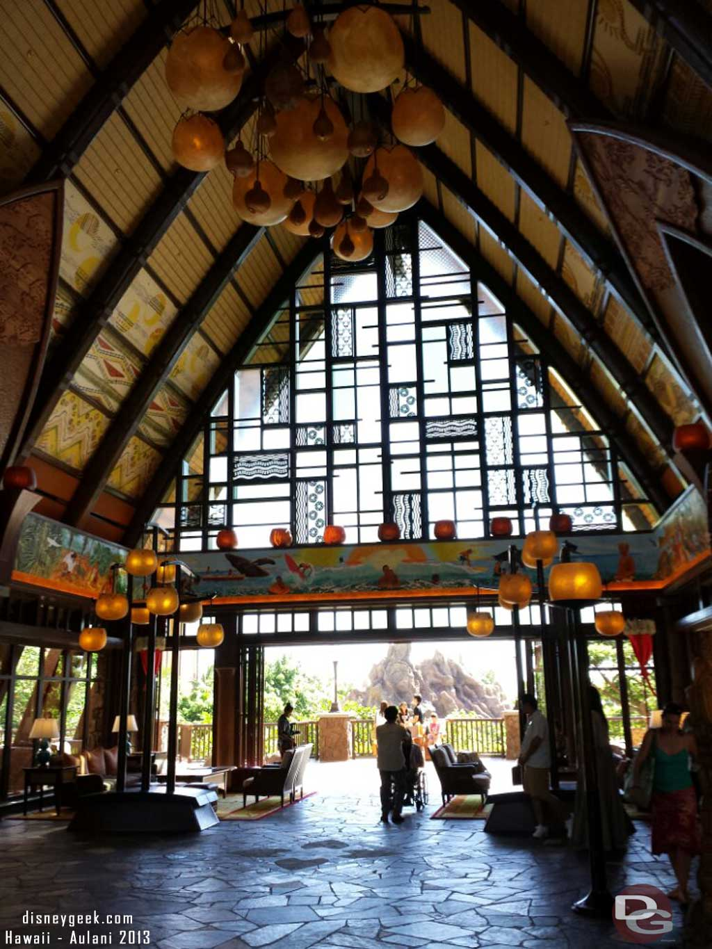Walking into the main building of #Aulani