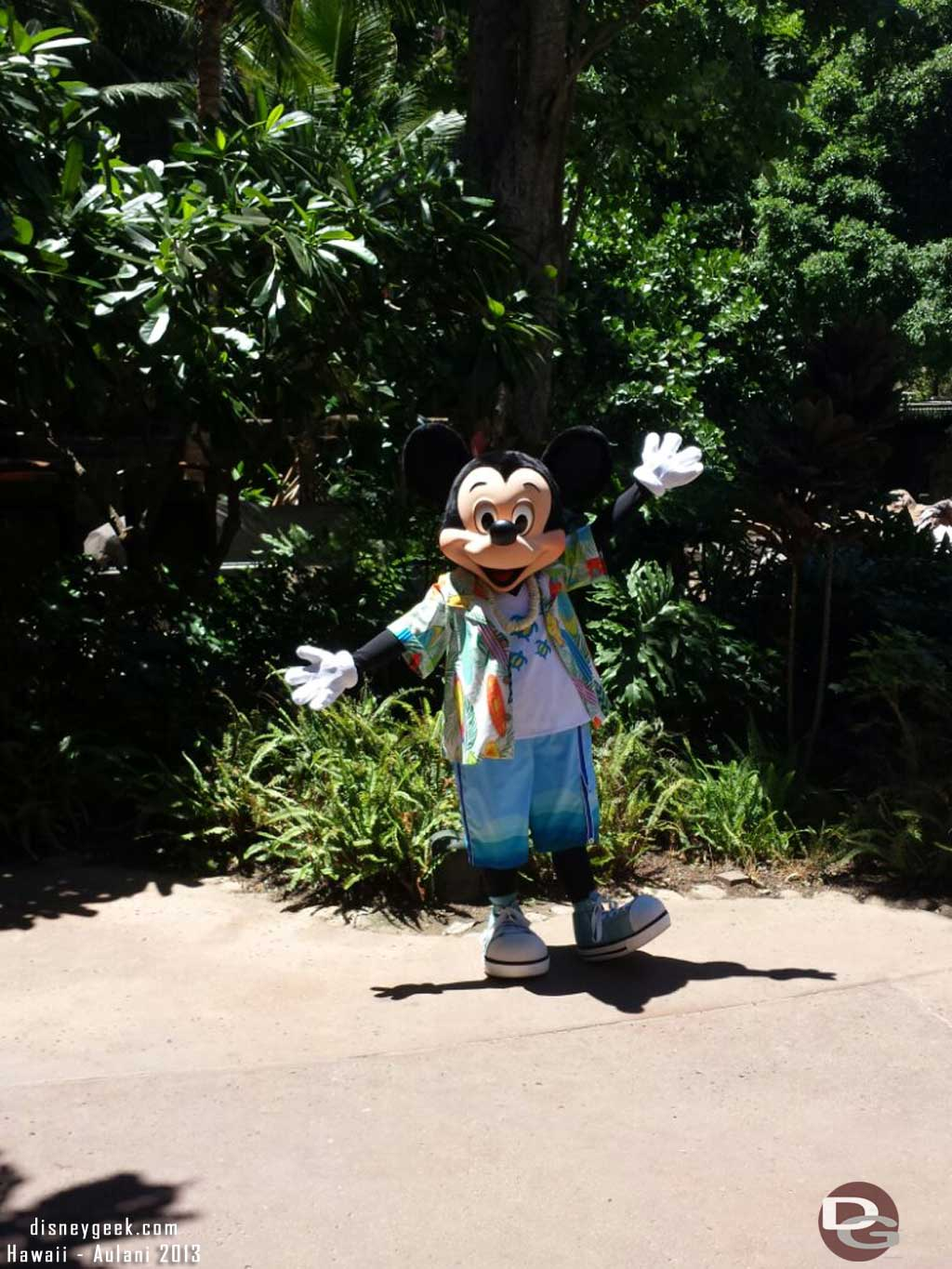 Mickey hanging out at #Aulani
